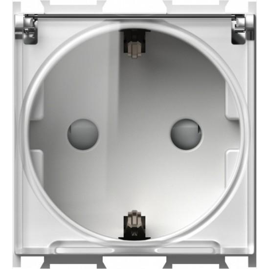 Vtičnica MODUL Blister P/O 16A 230V z zaščito IP20 2M pokrov BE/PROZ TEM ČATEŽ [VM11PT-B - 4317674]