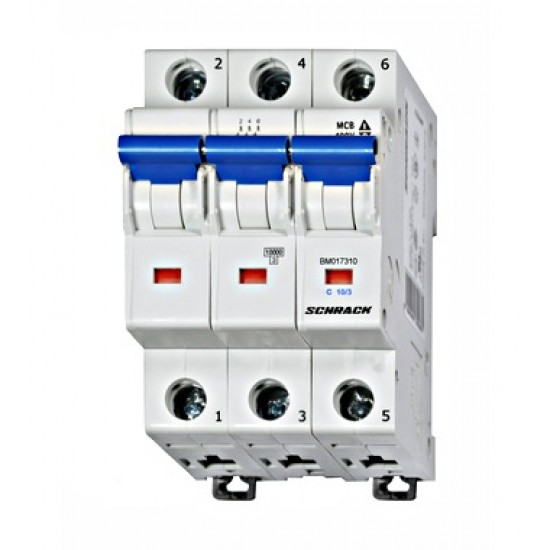 Inštalacijski odklopnik, karak. C, 10A, 10kA, 3-polni