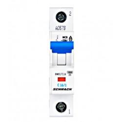 Inštalacijski odklopnik, karakt. C, 16A, 1-polni, 10kA